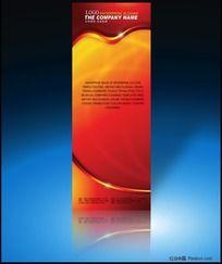 8款 红色喜庆展架、易拉宝设计素材PSD设计稿下载