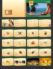 外国风格餐饮酒店画册设计