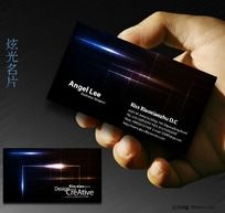 黑色名片设计欣赏 炫光名片PSD