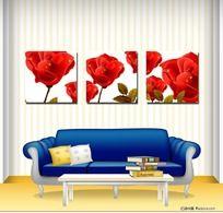 花朵 无框画 装饰画