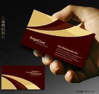 高贵红色名片设计欣赏 酒店名片