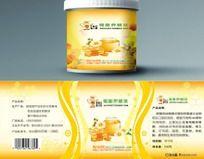 蜂蜜包装标签(展开图)