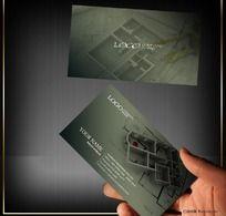 家装设计名片PSD分层素材