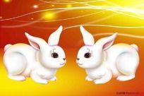 可爱的兔子插画