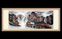 江山多娇山水国画
