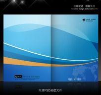 蓝色科技封面psd设计
