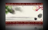 水墨中国风展板背景图