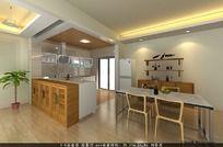 3D餐厅厨房模型和3D餐厅厨房效果图下载