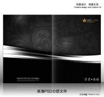 漂亮花纹 黑色高档画册封面设计