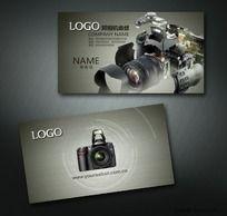 照相机维修售后服务名片设计