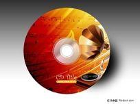 怀旧乐曲cd盘面设计 PSD