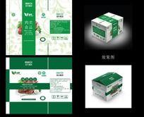 绿色原生态猪肉类食品包装纸箱