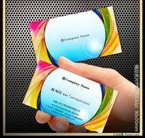电子科技印刷行业名片
