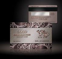 高档欧式花纹金属质感Vip会员卡设计