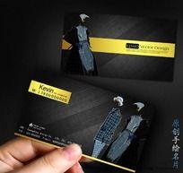 黑色高档 服装名片设计PSD