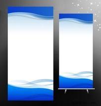 简洁大气易拉宝背景设计(RGB色彩)