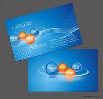 8款 蓝色科技行业名片矢量图CDR下载