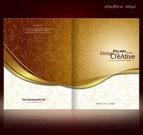 高档画册 欧式花纹菜谱设计 封面设计