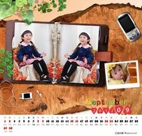 2012年儿童台历模板 时光记忆09