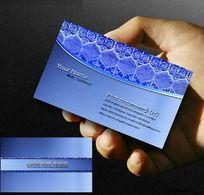 蓝色名片 公司商业名片设计