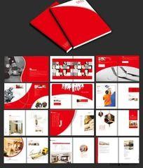 简洁大气装饰画册版式设计