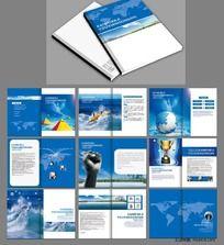 简洁大气机械宣传画册版式设计