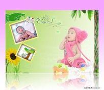 淡绿色系列儿童模板 PSD