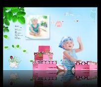 宝宝照片模板 PSD