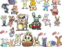 11款 卡通动物形象图案设计CDR下载