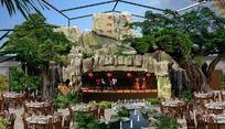 生态园假山演绎广场效果图