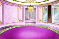 粉红浪漫公主风格大厅 卧室 展厅 PSD