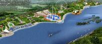 水上乐园景观效果图 PSD