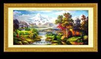 高清油画风景装饰画