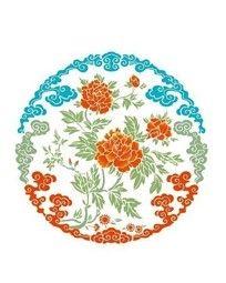 牡丹花团(色彩) CDR