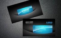 黑色简洁企业名片设计