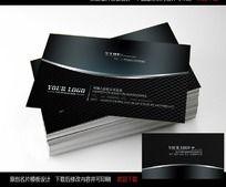 简洁高档 黑色商业名片模版设计