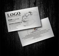 银色 机械制造行业名片设计