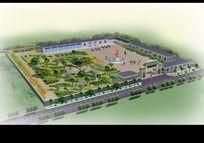 村支部景观绿化效果图