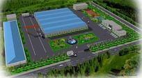 厂区景观规划鸟瞰图 PSD