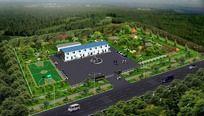 工厂景观规划鸟瞰图