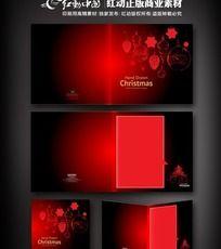 红色圣诞节贺卡素材