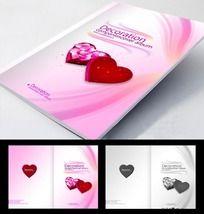 爱心盒 浪漫 婚庆画册封面设计PSD分层