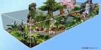 室内生态园景观 PSD