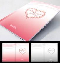 简洁粉红色 婚庆画册封面设计 PSD分层