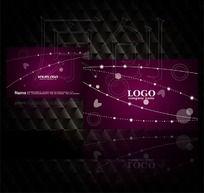 时尚创意线条花纹图案名片设计源文件
