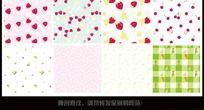 10款 甜美可爱花纹背景矢量AI下载