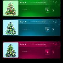 精美大气 圣诞之夜播放器UI设计 PSD