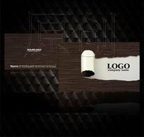 时尚木质纹理图案名片设计源文件