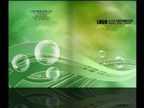 高贵绿色环保画册封面设计PSD