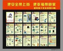 建筑施工安全挂图宣传18幅